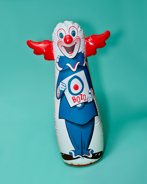 Bozo Punching Bag by Peter Adams.
