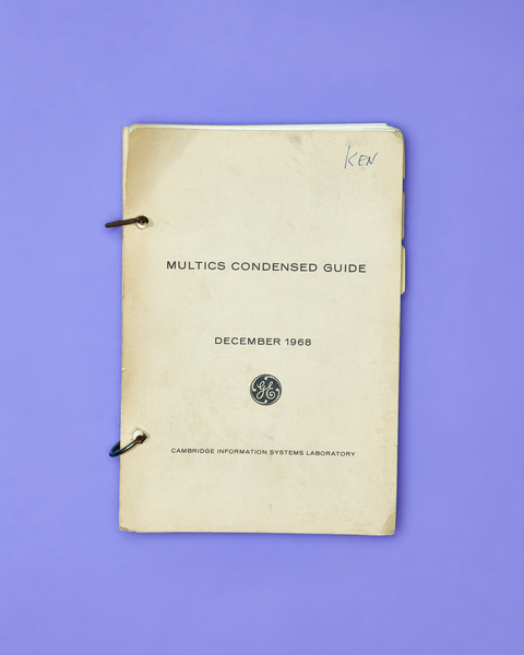 Multics Condensed Guide by Peter Adams.