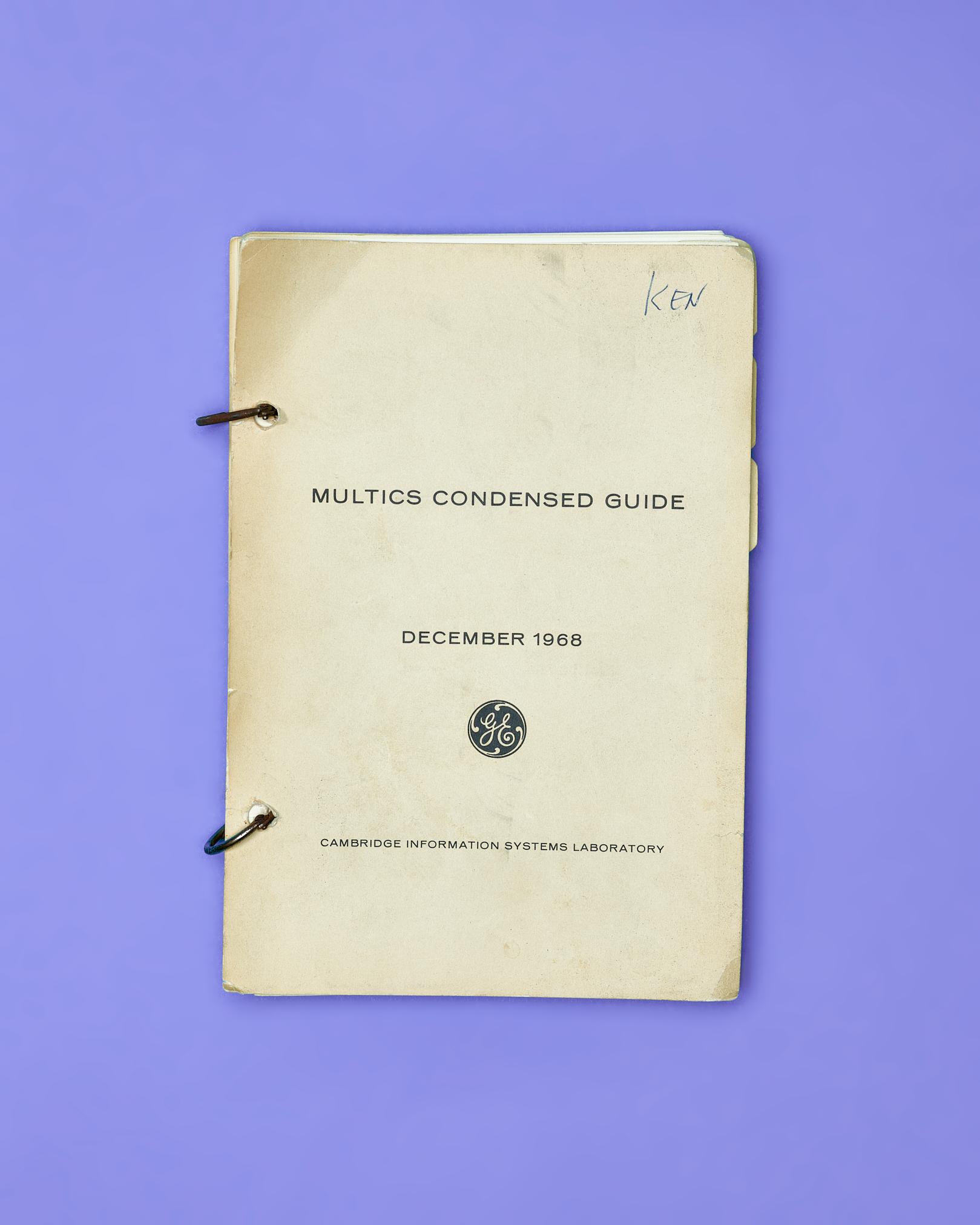 Multics Condensed Guide by Peter Adams.