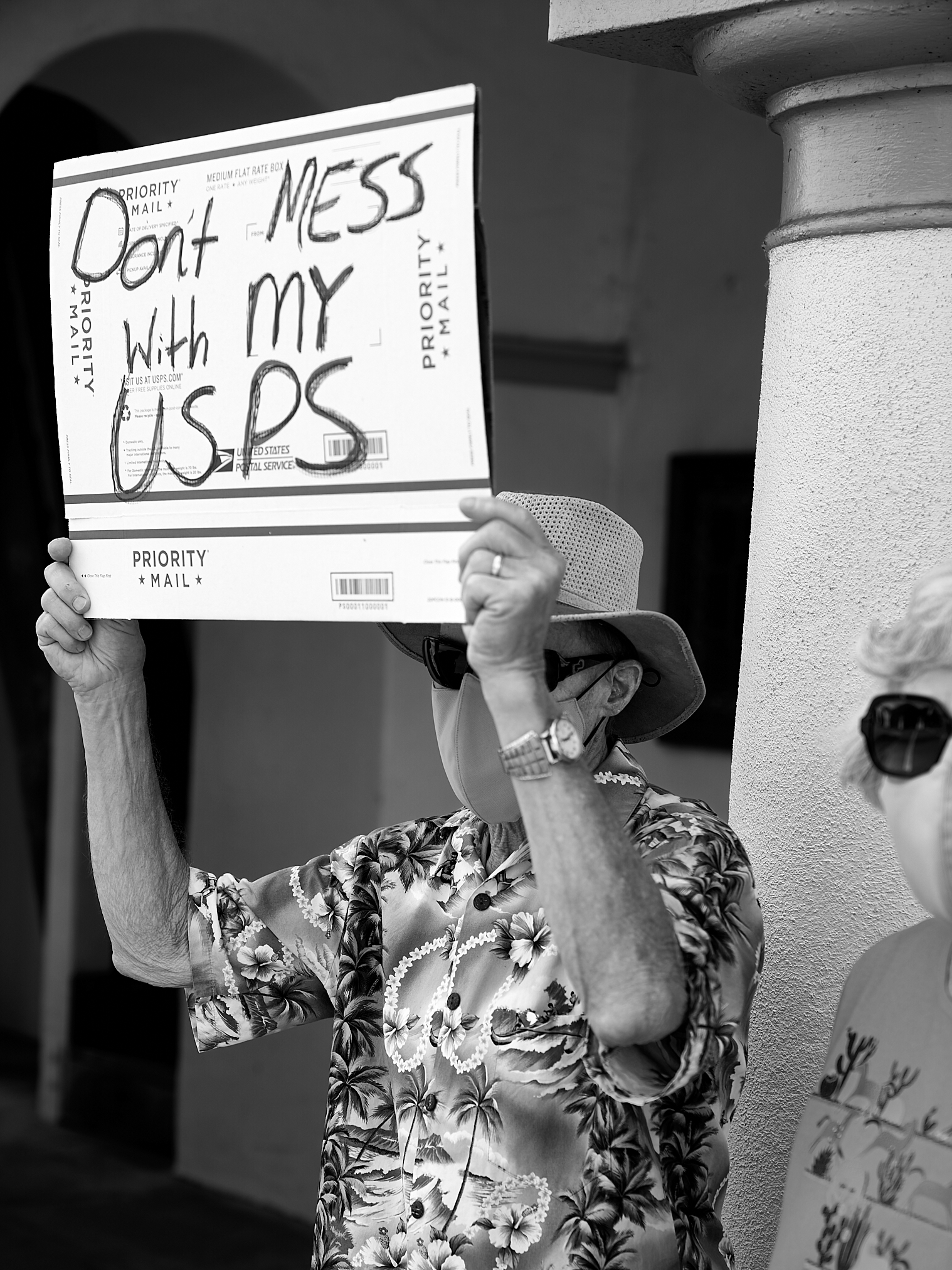 USPS Protest. 2020 Presidential Election, Post Office, political, protest, protest rally.