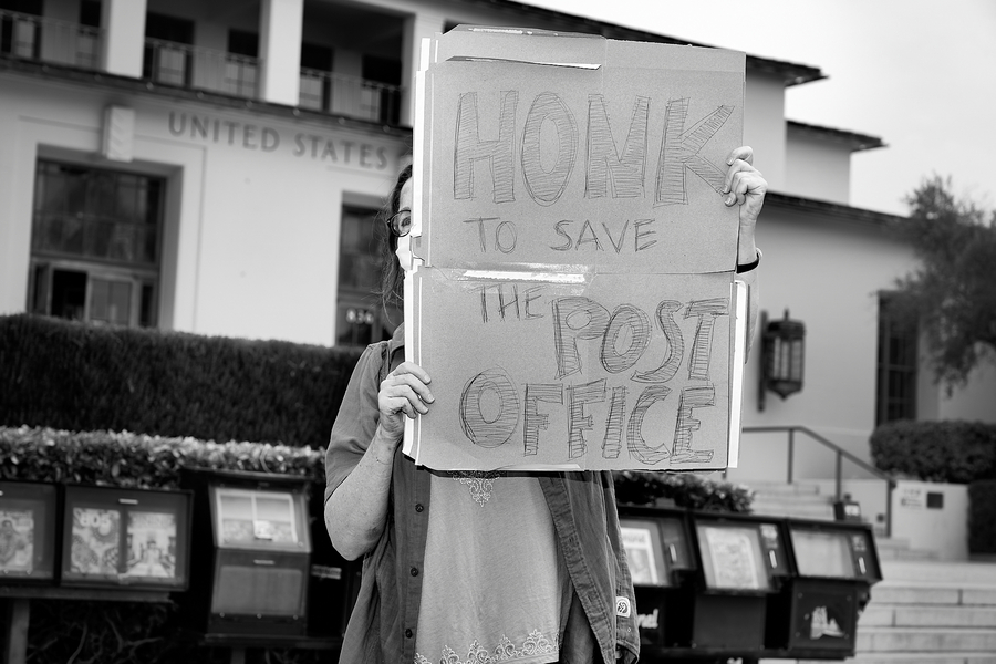 Save The Post Office Rally. #savethepostoffice, 2020 Presidential Election, politics, post office, postal service, protest, protest rally.