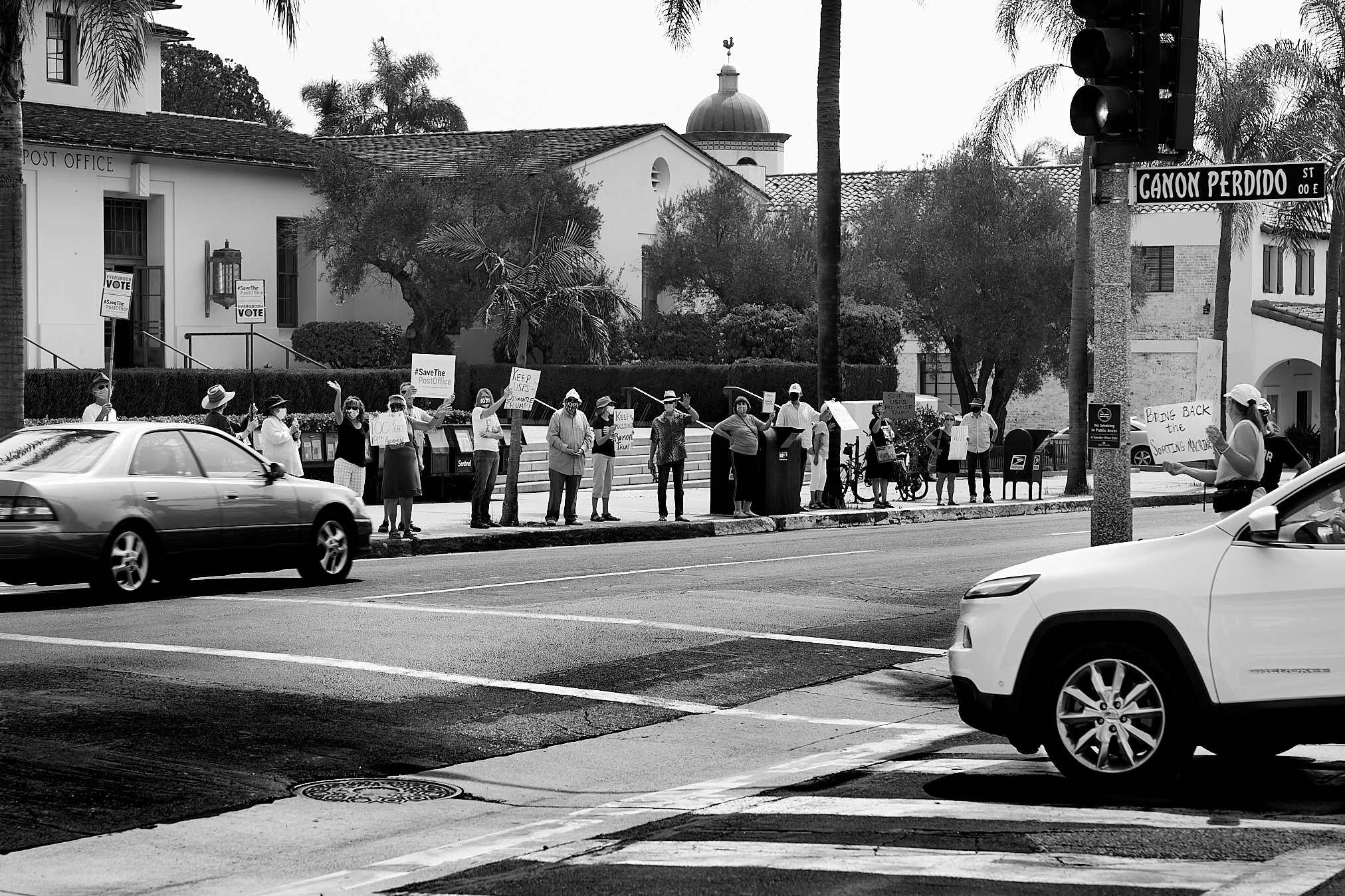 Save The Post Office Rally. politics, post office, protest, protest rally, #savethepostoffice, 2020 Presidential Election, postal service.