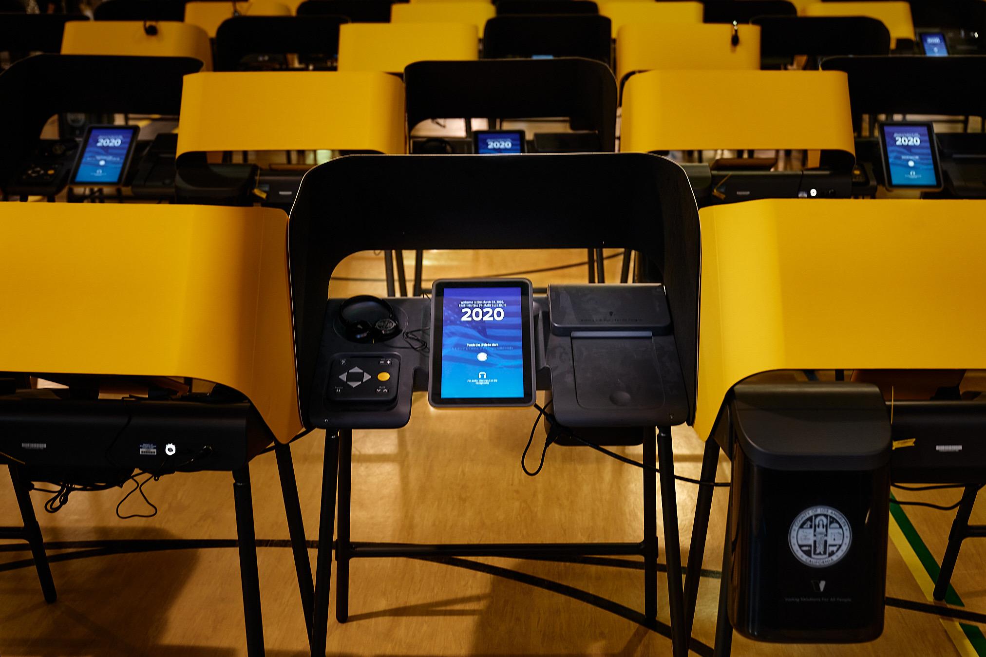 LA County Voting Machines. LA County, democracy, election security, elections, los angeles, voting, voting machines.