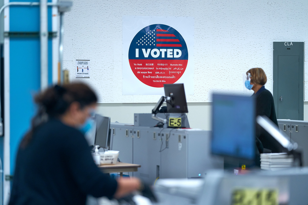 Los Angeles County Vote Tally Operation Center. election, election 2020, election security, elections, voting.