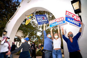 Biden/Harris Celebration. political, political campaign, political rally, political sign, election, election 2020, 2020 Presidential Election.