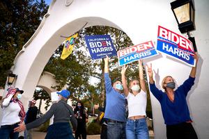 Biden/Harris Celebration. political, political campaign, political rally, political sign, election, election 2020, 2020 Presidential Election.