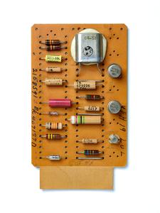 IBM SMS Card YFH. SMS Card, circuit board, computer, mainframe, tech history, transistors, vintage computing.