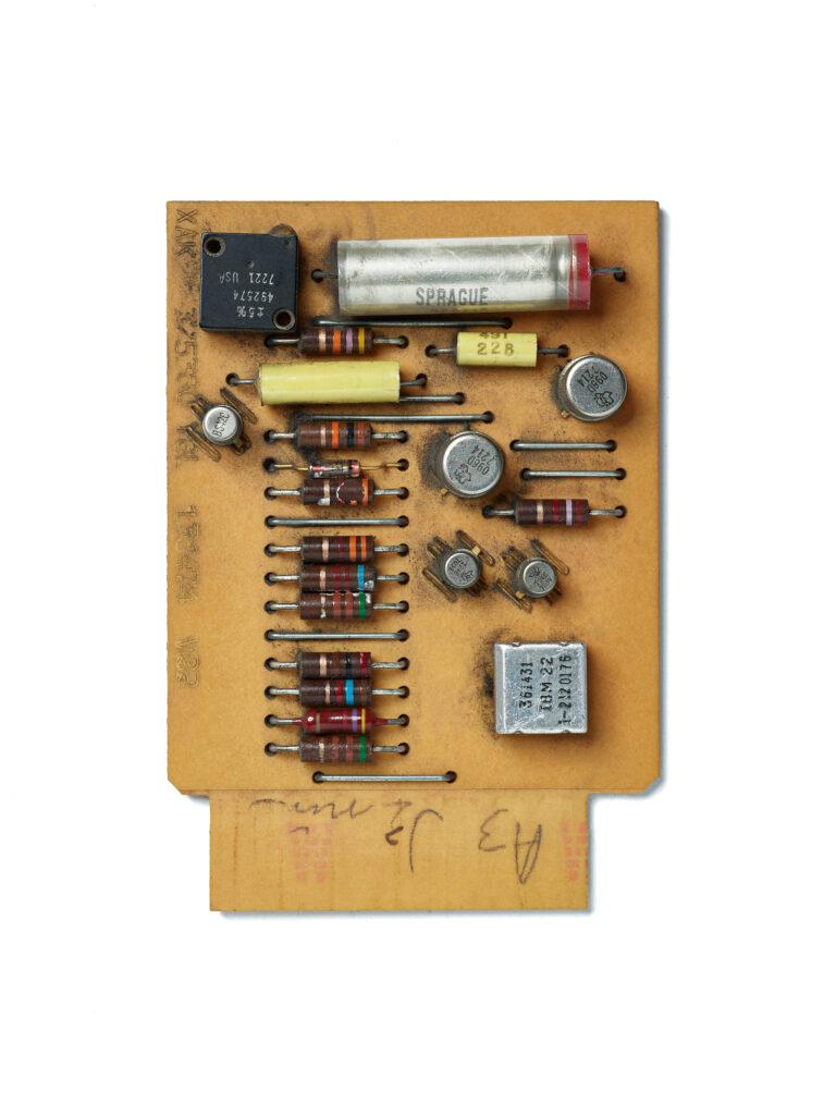 IBM SMS Card XAK. SMS Card, circuit board, computer, mainframe, tech history, transistors, vintage computing.