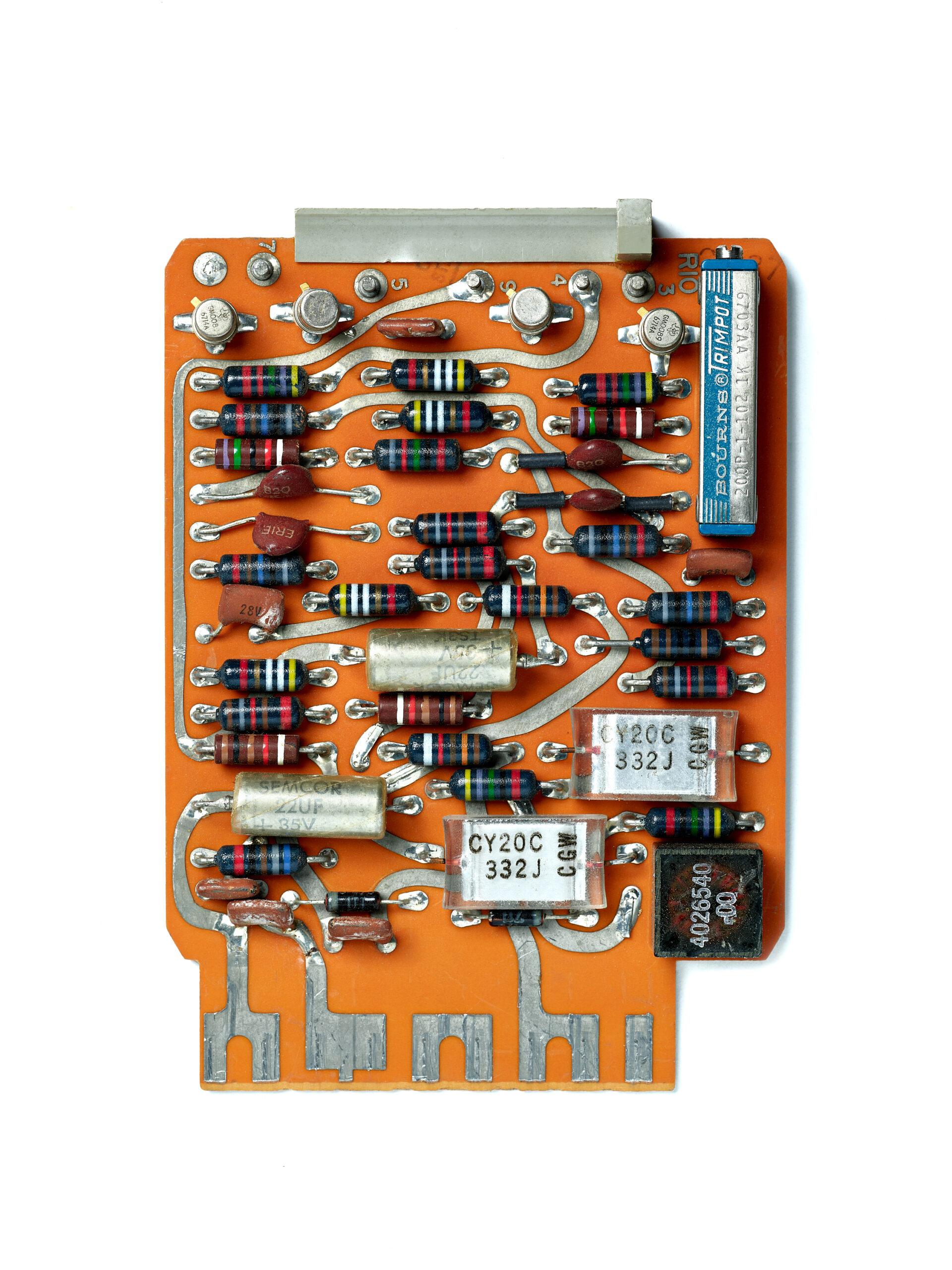 UNIVAC C-682 Card. circuit board, computer, mainframe, tech history, transistors, vintage computing.