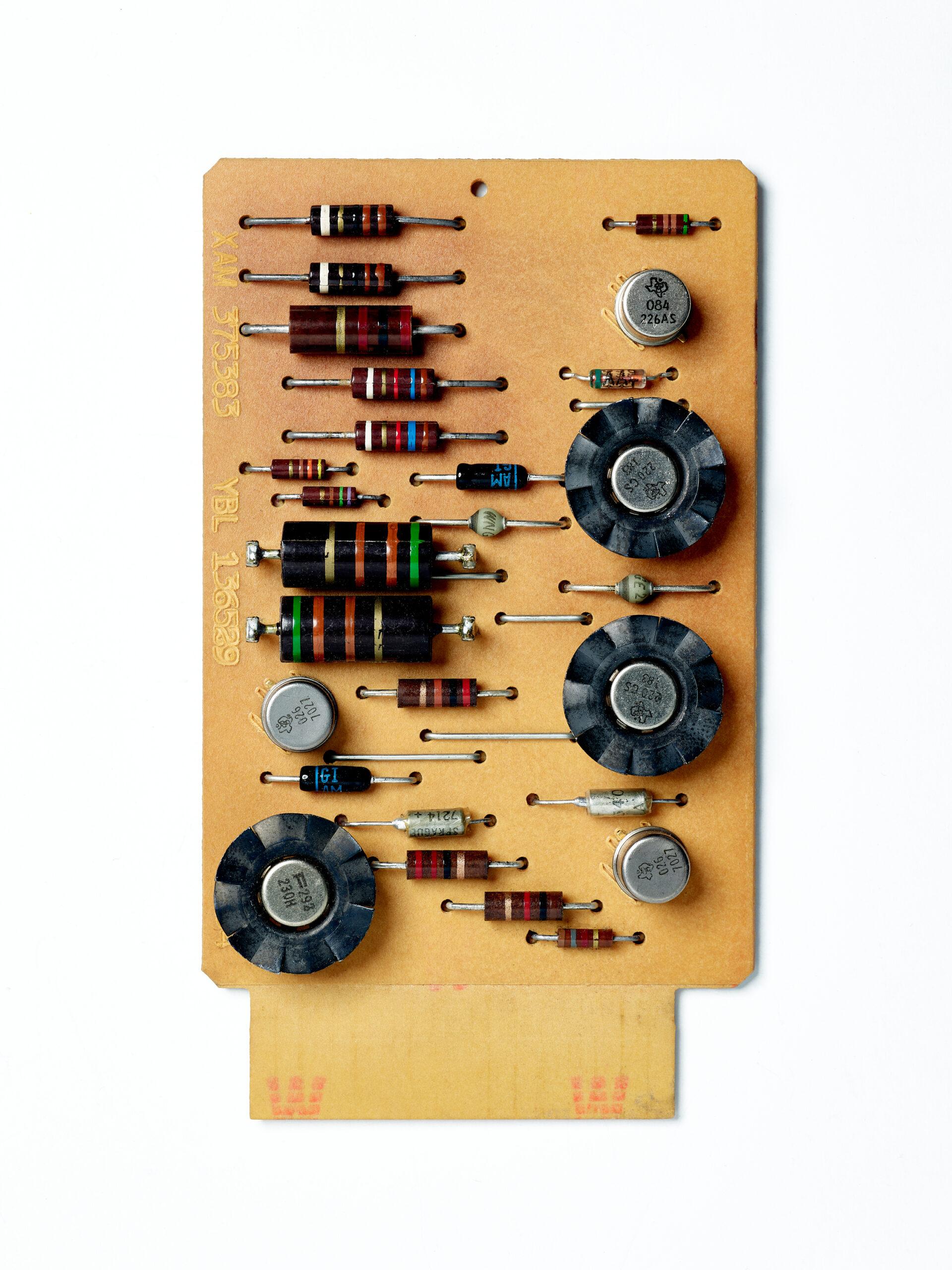 IBM SMS Card XAM. SMS Card, circuit board, computer, mainframe, tech history, transistors, vintage computing.
