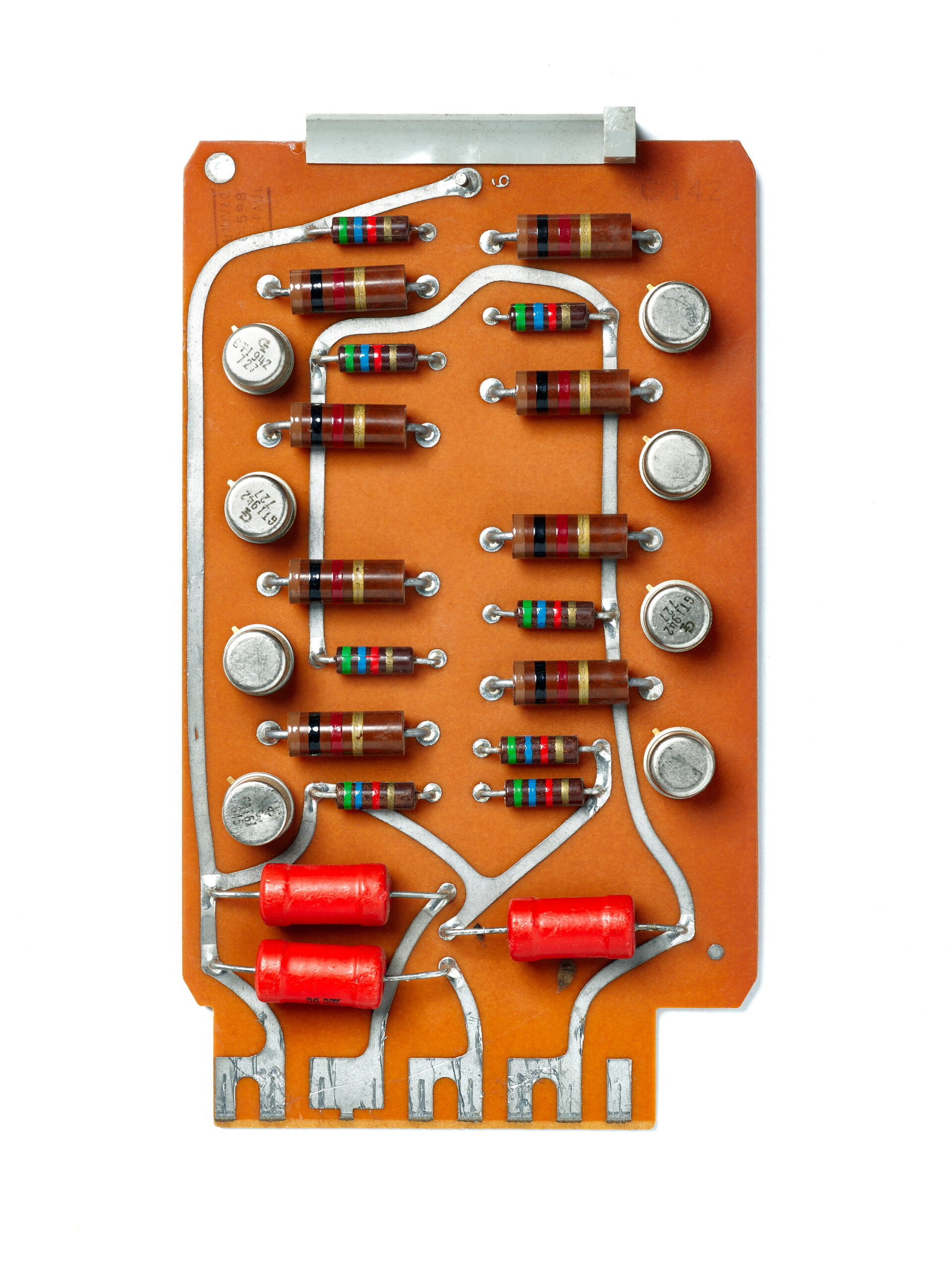 UNIVAC C-598 Card. circuit board, computer, mainframe, tech history, transistors, vintage computing.