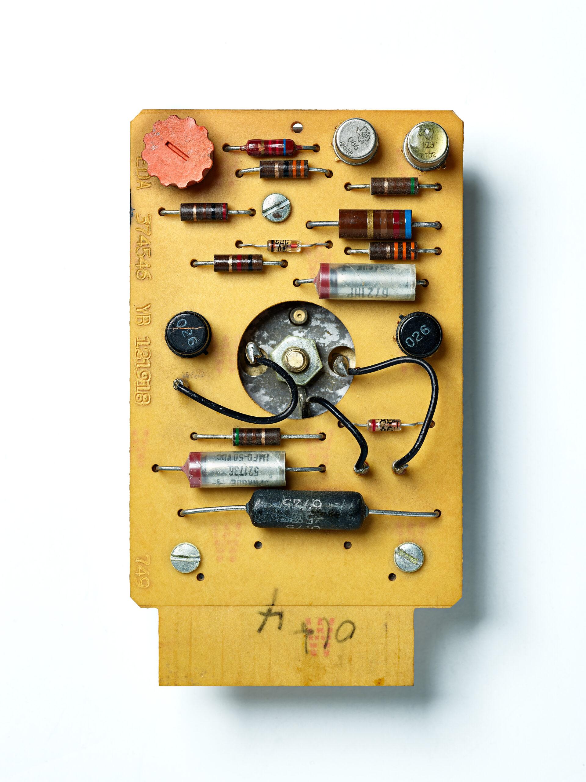 IBM SMS Card EDA. SMS Card, vintage computing, tech history, computer, mainframe, transistors, circuit board.