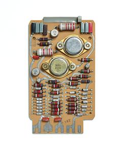 UNIVAC C-719 Card. circuit board, computer, mainframe, tech history, transistors, vintage computing.